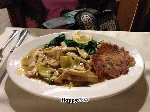 "Photo of CLOSED: Adama  by <a href=""/members/profile/Lindy%20Lee"">Lindy Lee</a> <br/>Great vegan food! I had the 'chicken' piccata (attached photo).  Served with spinach & garlic mashed potatoes. Delicious! But the best was dessert. Pecan pie and vanilla gelato. To die for! Really! It is pricey, but worth it.  <br/> December 5, 2013  - <a href='/contact/abuse/image/26691/59913'>Report</a>"