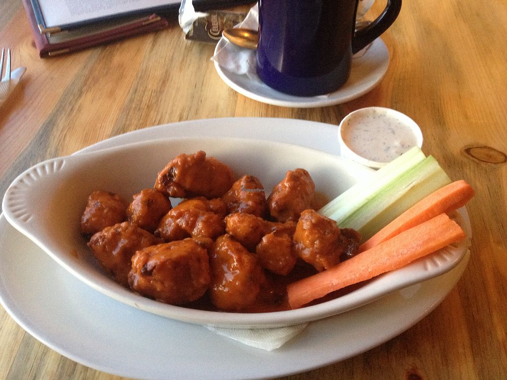 "Photo of Sweet Melissa Cafe  by <a href=""/members/profile/AutumnTierra"">AutumnTierra</a> <br/>Cauliflower wings with vegan ranch! <br/> January 25, 2018  - <a href='/contact/abuse/image/2669/350649'>Report</a>"