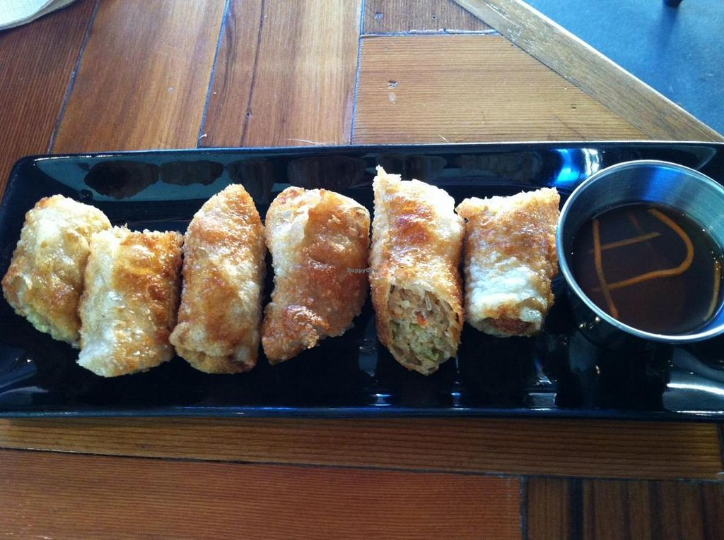 "Photo of Chau VeggiExpress  by <a href=""/members/profile/vegan%20frog"">vegan frog</a> <br/>Vegan spring rolls <br/> November 29, 2014  - <a href='/contact/abuse/image/26705/86746'>Report</a>"