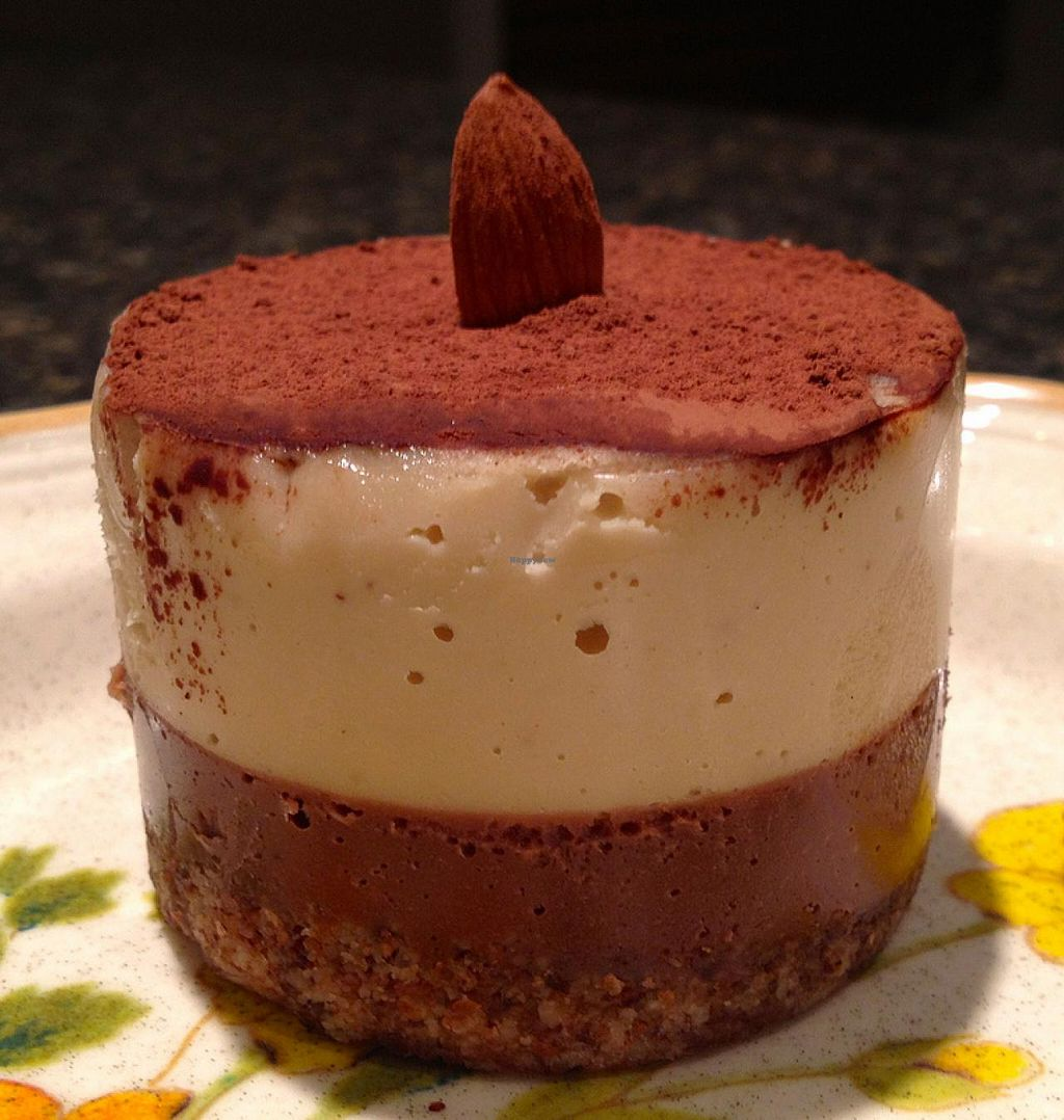 Photo of Fresh Healthy Eatery and Juice Bar  by RamblingVegans <br/>Raw Taramisu Cheesecake <br/> March 2, 2014  - <a href='/contact/abuse/image/26716/65104'>Report</a>