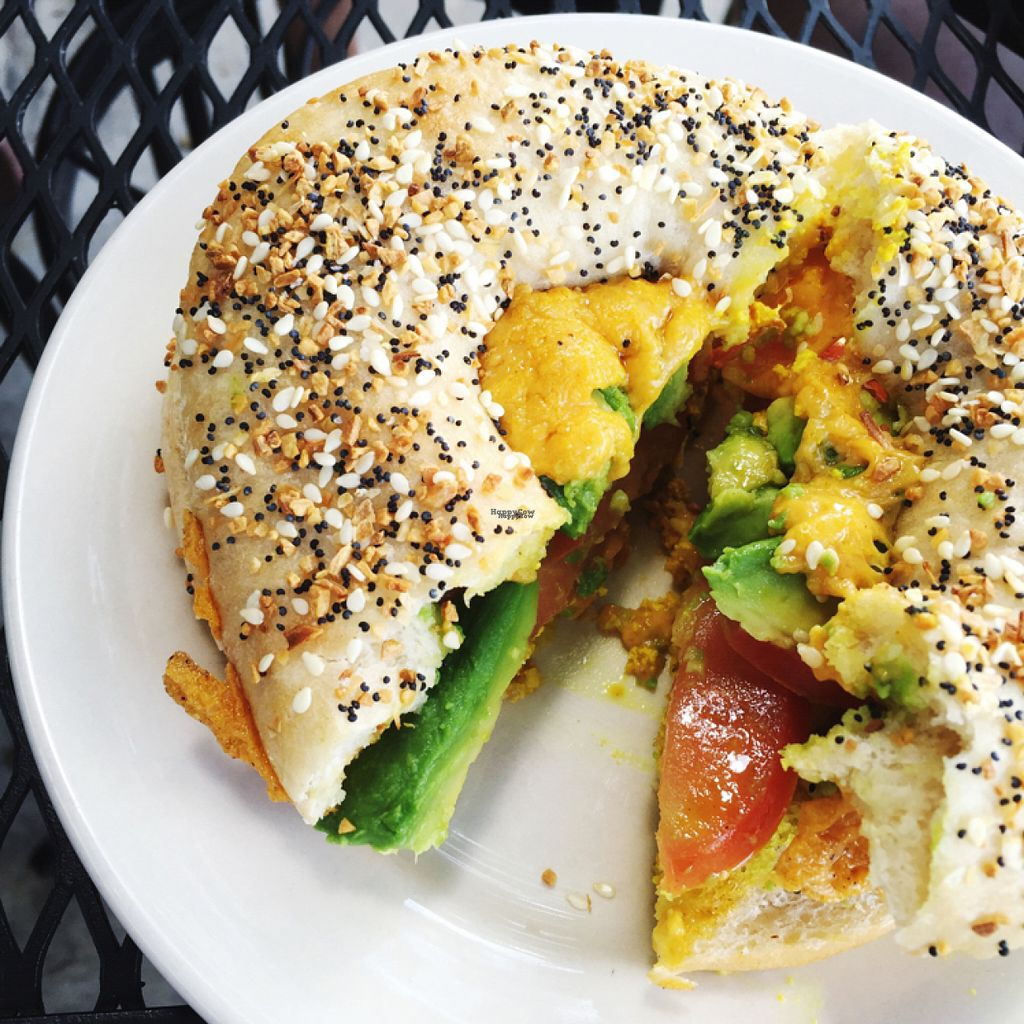 """Photo of Dulce Vegan Bakery and Cafe  by <a href=""""/members/profile/TerynSkye"""">TerynSkye</a> <br/>breakfast bagel sandwich.  <br/> August 17, 2016  - <a href='/contact/abuse/image/26735/169375'>Report</a>"""