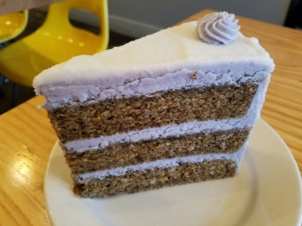"""Photo of Dulce Vegan Bakery and Cafe  by <a href=""""/members/profile/EverydayTastiness"""">EverydayTastiness</a> <br/>lavender English breakfast cake <br/> February 19, 2017  - <a href='/contact/abuse/image/26735/228189'>Report</a>"""