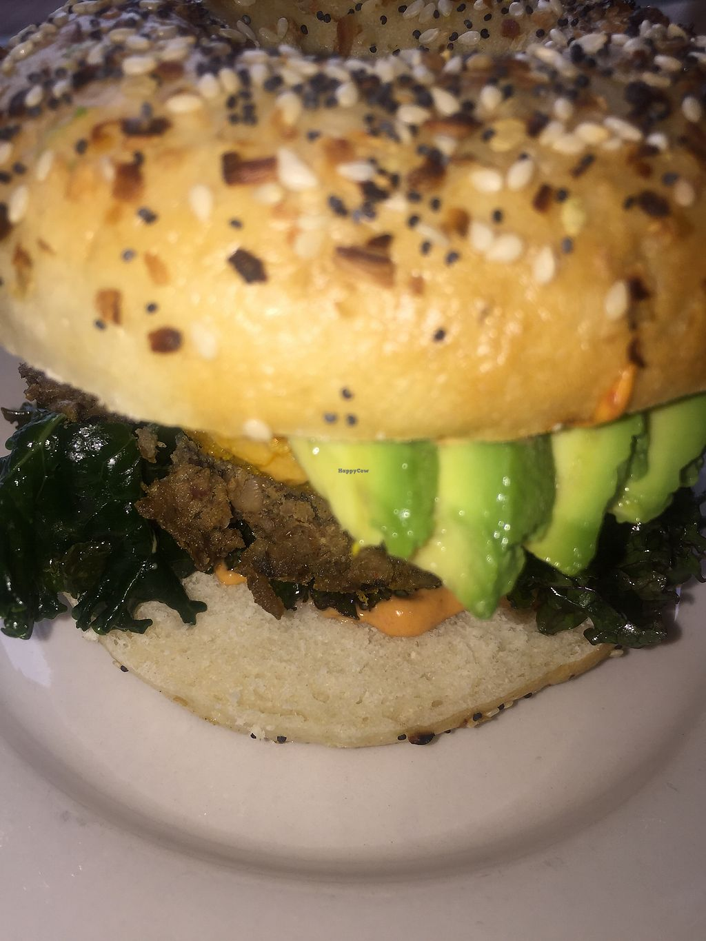 """Photo of Dulce Vegan Bakery and Cafe  by <a href=""""/members/profile/terrywashere"""">terrywashere</a> <br/>breakfast bagel.  <br/> June 29, 2017  - <a href='/contact/abuse/image/26735/274587'>Report</a>"""