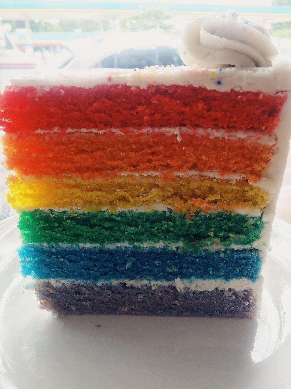 """Photo of Dulce Vegan Bakery and Cafe  by <a href=""""/members/profile/terrywashere"""">terrywashere</a> <br/>pride cake.  <br/> June 29, 2017  - <a href='/contact/abuse/image/26735/274588'>Report</a>"""
