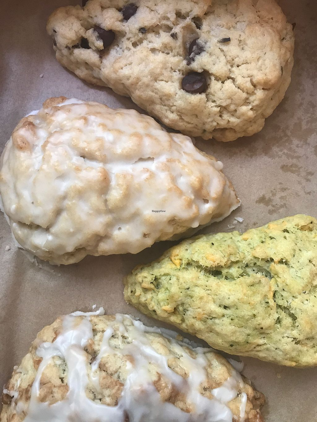 """Photo of Dulce Vegan Bakery and Cafe  by <a href=""""/members/profile/KerryElise"""">KerryElise</a> <br/>Scones  <br/> September 24, 2017  - <a href='/contact/abuse/image/26735/307820'>Report</a>"""