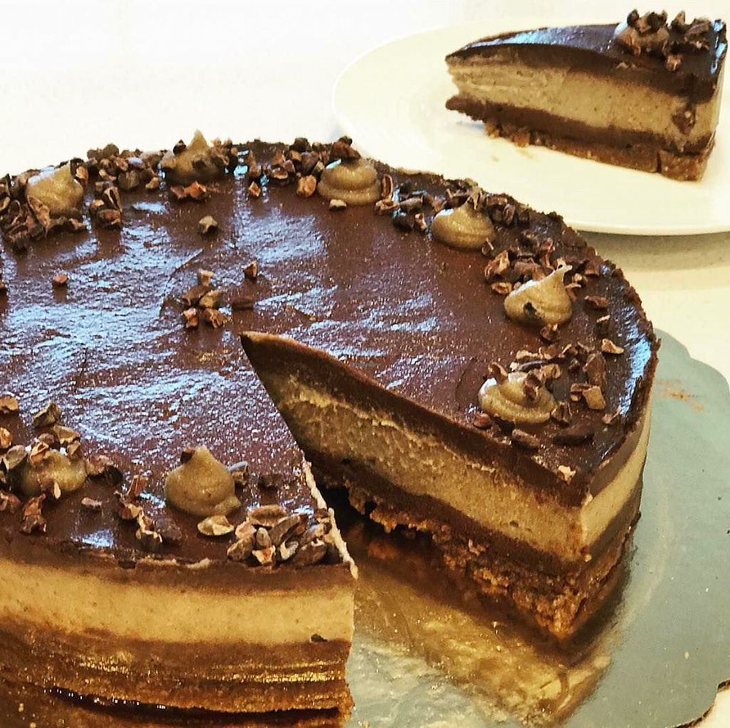 """Photo of Dulce Vegan Bakery and Cafe  by <a href=""""/members/profile/melissapedroso"""">melissapedroso</a> <br/>My birthday raw gluten free cheesecake  <br/> November 3, 2017  - <a href='/contact/abuse/image/26735/321448'>Report</a>"""