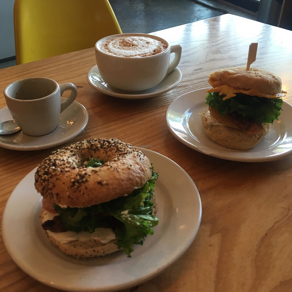 """Photo of Dulce Vegan Bakery and Cafe  by <a href=""""/members/profile/clarebear9"""">clarebear9</a> <br/>Breakfast sandwiches are a must!  <br/> April 13, 2018  - <a href='/contact/abuse/image/26735/385210'>Report</a>"""