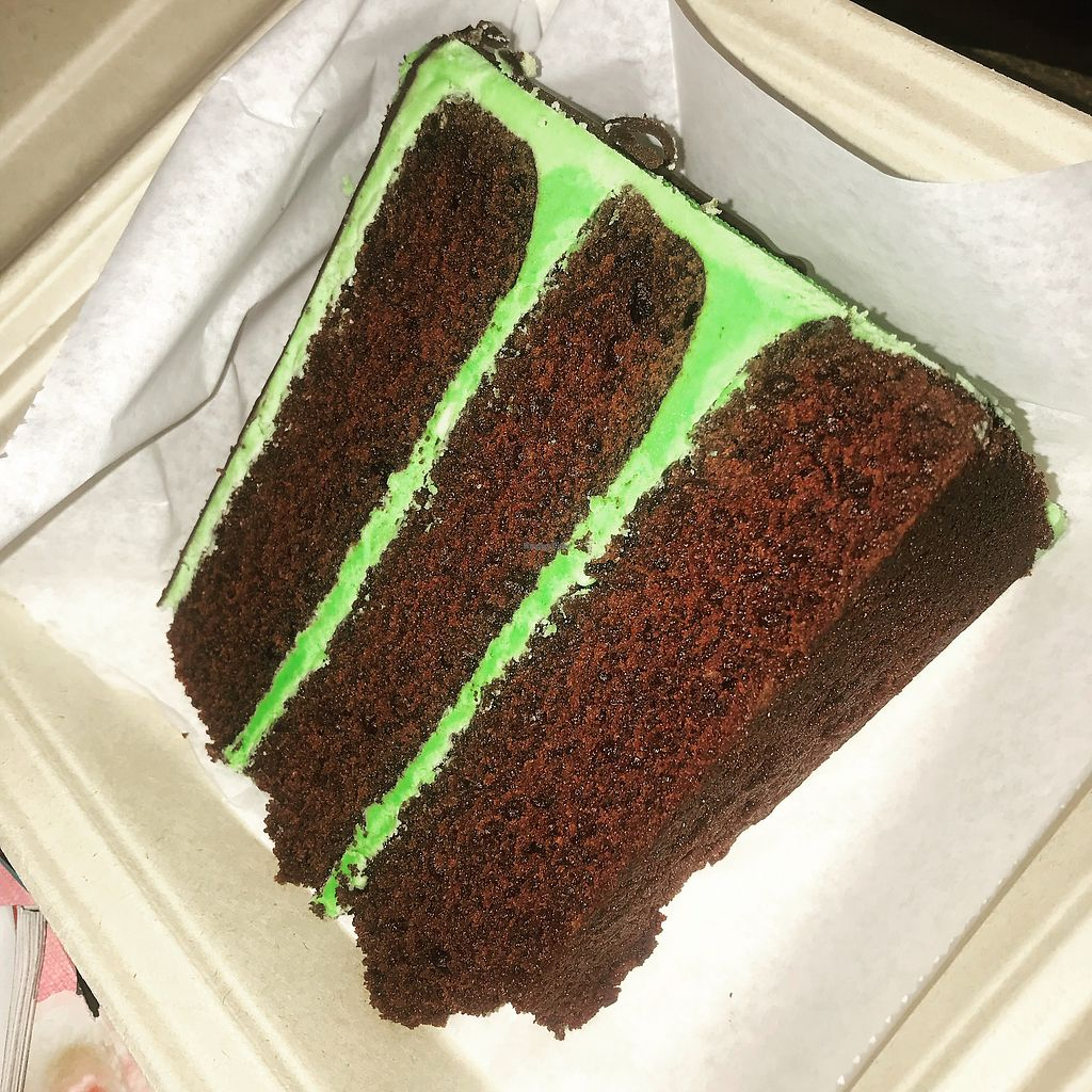 """Photo of Dulce Vegan Bakery and Cafe  by <a href=""""/members/profile/SamTyler"""">SamTyler</a> <br/>Chocolate Mint Slice <br/> May 13, 2018  - <a href='/contact/abuse/image/26735/399379'>Report</a>"""