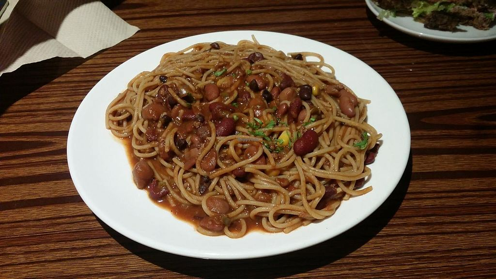"""Photo of CLOSED: The Veggie Table  by <a href=""""/members/profile/jungsiah"""">jungsiah</a> <br/>Chili spaghetti <br/> May 21, 2015  - <a href='/contact/abuse/image/26742/102964'>Report</a>"""
