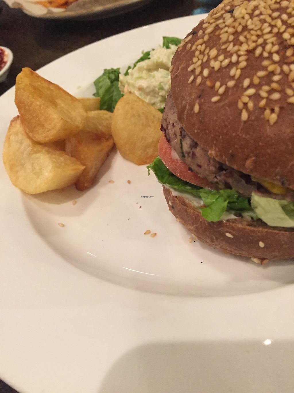 """Photo of CLOSED: The Veggie Table  by <a href=""""/members/profile/H2OAddict"""">H2OAddict</a> <br/>Southwest Bean Burger <br/> August 20, 2017  - <a href='/contact/abuse/image/26742/294607'>Report</a>"""