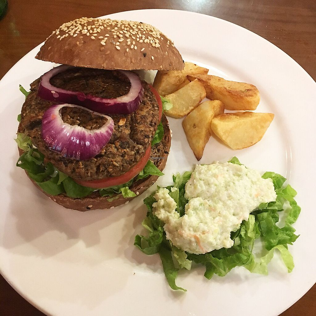 """Photo of CLOSED: The Veggie Table  by <a href=""""/members/profile/CherryFlamingo"""">CherryFlamingo</a> <br/>Mushroom burgers  <br/> November 1, 2017  - <a href='/contact/abuse/image/26742/320840'>Report</a>"""