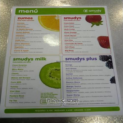 "Photo of CLOSED: Smudy Juice Bar - Rambla Cataluna  by <a href=""/members/profile/Nihacc"">Nihacc</a> <br/>menu <br/> May 20, 2011  - <a href='/contact/abuse/image/26745/8710'>Report</a>"