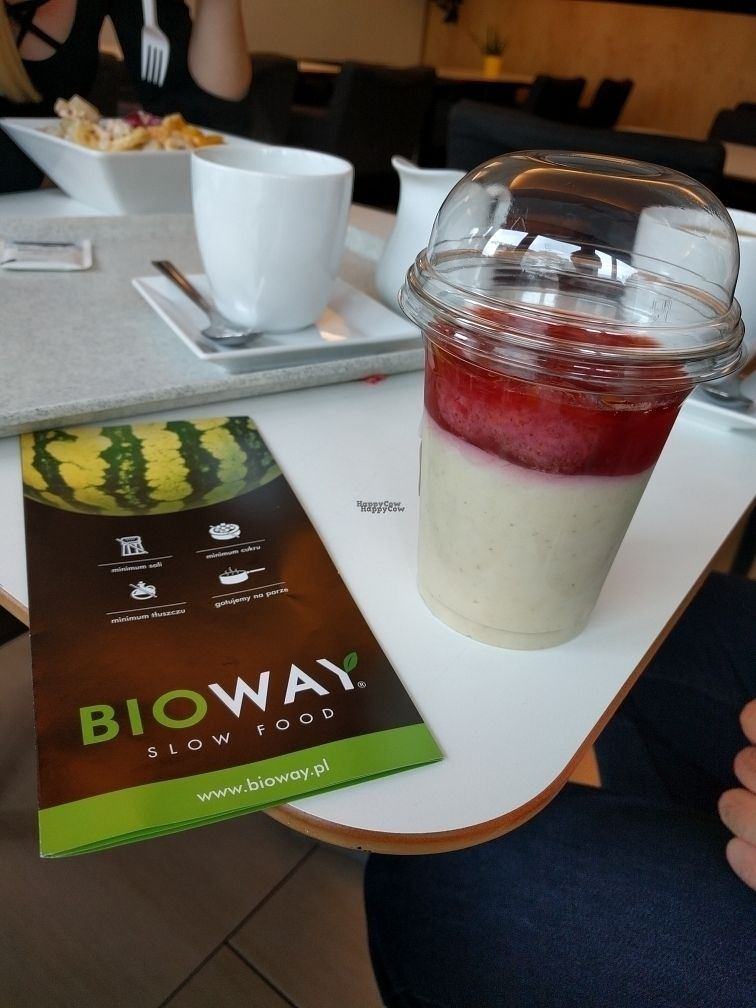 """Photo of BioWay - Gdynia Gdansk  by <a href=""""/members/profile/iuooip"""">iuooip</a> <br/>Pudding jaglany z truskawkami.  <br/> September 4, 2016  - <a href='/contact/abuse/image/26769/173488'>Report</a>"""