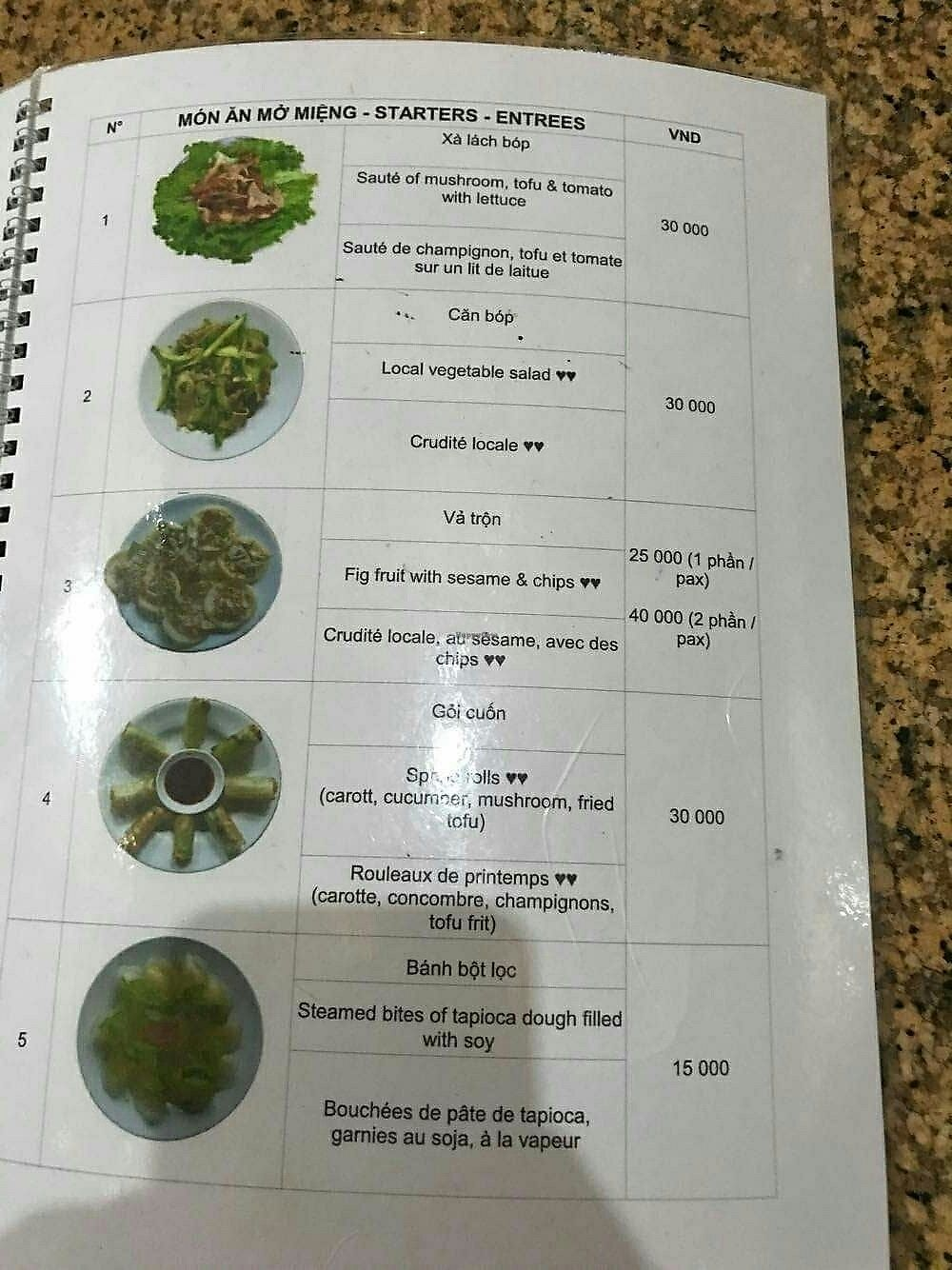 """Photo of Tinh Tam - Minh mang  by <a href=""""/members/profile/turnvegan"""">turnvegan</a> <br/>Menu#6 <br/> July 18, 2017  - <a href='/contact/abuse/image/26796/281795'>Report</a>"""