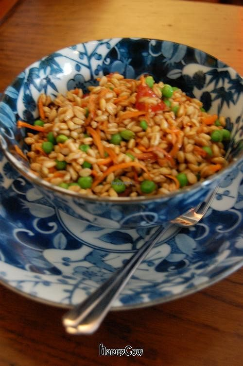 """Photo of CLOSED: Caffe Orientale Tearoom  by <a href=""""/members/profile/hokusai77"""">hokusai77</a> <br/>Barley salad with beans and veggies.  <br/> May 18, 2013  - <a href='/contact/abuse/image/26805/48325'>Report</a>"""