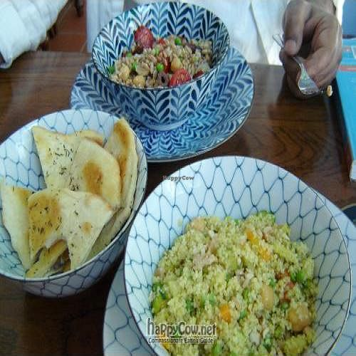"""Photo of CLOSED: Caffe Orientale Tearoom  by <a href=""""/members/profile/Joyatri"""">Joyatri</a> <br/>Spelt salad, cous cous with vegetables and chickpeas and freshly made, warm bread <br/> June 4, 2011  - <a href='/contact/abuse/image/26805/9036'>Report</a>"""