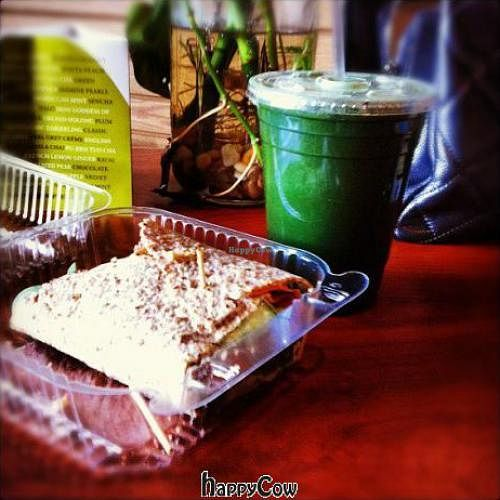 """Photo of CLOSED: Cosmic Coconut  by <a href=""""/members/profile/Cosmic%20Coconut"""">Cosmic Coconut</a> <br/>Juice and Hummus Wrap <br/> September 3, 2012  - <a href='/contact/abuse/image/26832/37431'>Report</a>"""