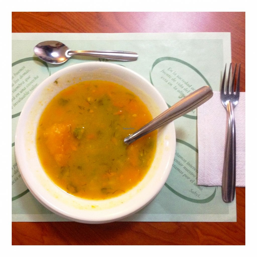 """Photo of Sabyi  by <a href=""""/members/profile/santiagovf"""">santiagovf</a> <br/>Pumpkin soup as entree <br/> January 6, 2016  - <a href='/contact/abuse/image/26836/131299'>Report</a>"""