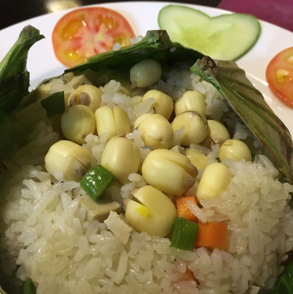 """Photo of Mandala  by <a href=""""/members/profile/Veg4Jay"""">Veg4Jay</a> <br/>Lotus Leaf Steamed Rice <br/> November 11, 2016  - <a href='/contact/abuse/image/26846/188632'>Report</a>"""