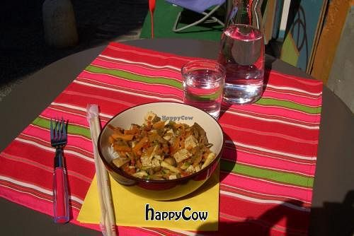 """Photo of CLOSED: Au fil des mets  by <a href=""""/members/profile/GreenGarnet"""">GreenGarnet</a> <br/>'Plat du Jour' (6 €) - rice with vegetables and tofu  <br/> September 7, 2012  - <a href='/contact/abuse/image/26856/37663'>Report</a>"""