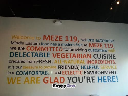 """Photo of Meze 119  by <a href=""""/members/profile/Ward"""">Ward</a> <br/>Indoor signage <br/> December 5, 2013  - <a href='/contact/abuse/image/26880/59905'>Report</a>"""
