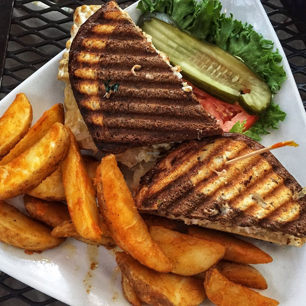 """Photo of Secret Garden Cafe  by <a href=""""/members/profile/plantbaseddfw"""">plantbaseddfw</a> <br/>The Reuben Sandwich  <br/> April 1, 2018  - <a href='/contact/abuse/image/26898/379441'>Report</a>"""