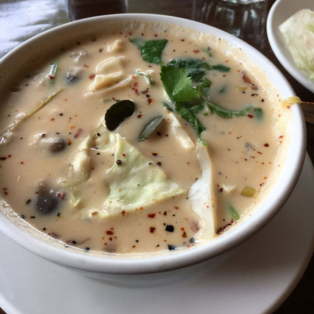 """Photo of Bon Appe Thai  by <a href=""""/members/profile/KWdaddio"""">KWdaddio</a> <br/>Tom Kha Cabbage vegan soup <br/> May 20, 2017  - <a href='/contact/abuse/image/26927/260690'>Report</a>"""