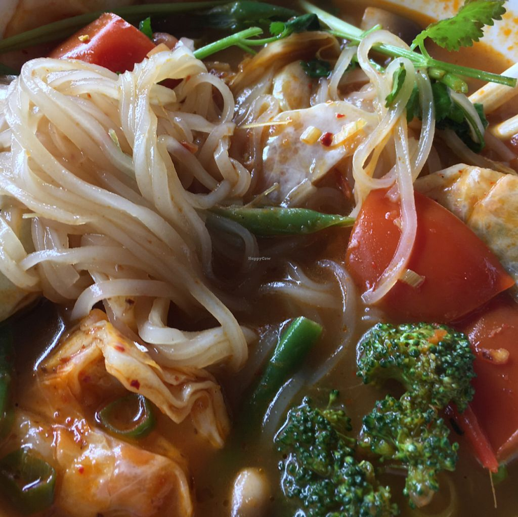 """Photo of Bon Appe Thai  by <a href=""""/members/profile/KWdaddio"""">KWdaddio</a> <br/>Tom Yum Noodle Soup vegan <br/> May 20, 2017  - <a href='/contact/abuse/image/26927/260693'>Report</a>"""