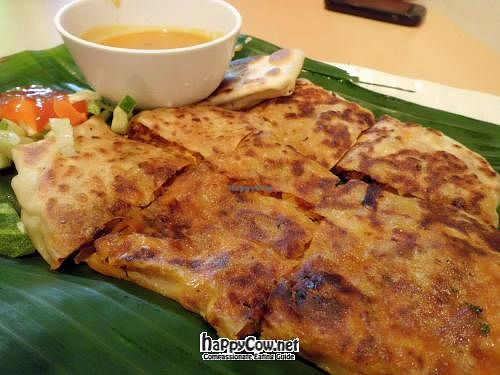 """Photo of Gokul Vegetarian Restaurant and Cafe- Fortune Centre  by <a href=""""/members/profile/Peace%20..."""">Peace ...</a> <br/>Vegetarian Murtabak  (Mutton) @ S$5 <br/> May 18, 2012  - <a href='/contact/abuse/image/26929/31824'>Report</a>"""