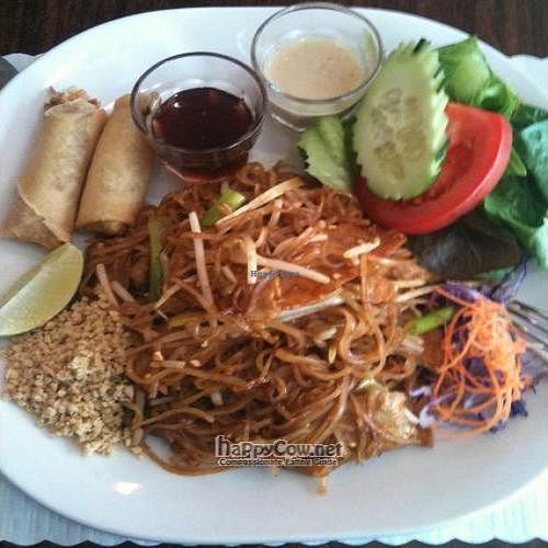 """Photo of Urban Vegan - Lake View  by <a href=""""/members/profile/bignameactress"""">bignameactress</a> <br/>Pad Thai with soy chicken (Lunch special) <br/> September 26, 2011  - <a href='/contact/abuse/image/26967/10883'>Report</a>"""