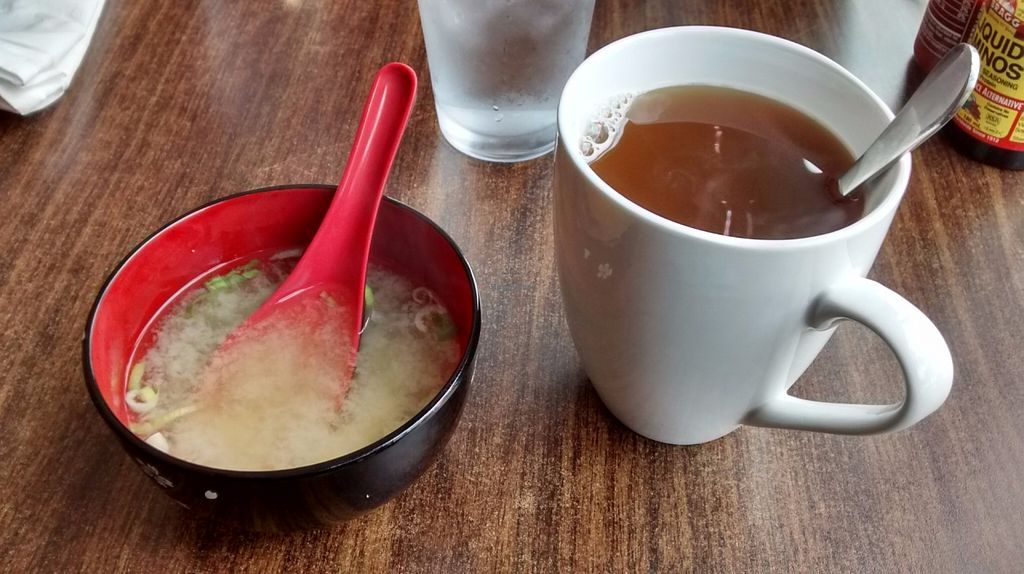 """Photo of Urban Vegan - Lake View  by <a href=""""/members/profile/JonJon"""">JonJon</a> <br/>Miso soup and ginger tea <br/> July 1, 2016  - <a href='/contact/abuse/image/26967/157131'>Report</a>"""