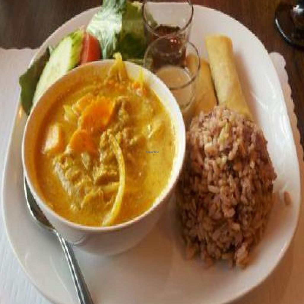 """Photo of Urban Vegan - Lake View  by <a href=""""/members/profile/SynthVegan"""">SynthVegan</a> <br/>Yellow curry with seitan <br/> October 2, 2011  - <a href='/contact/abuse/image/26967/191897'>Report</a>"""