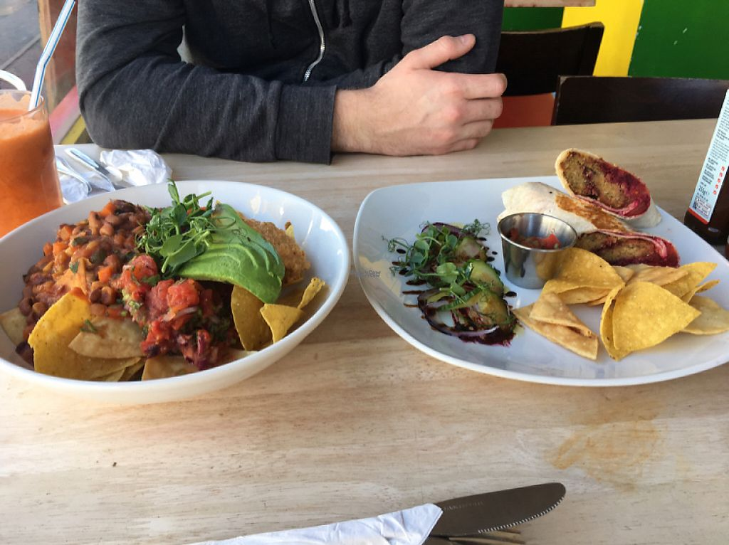 """Photo of The Beached Lamb Cafe  by <a href=""""/members/profile/Claire.waine"""">Claire.waine</a> <br/> vegan nachos and foxy roxy wrap <br/> December 11, 2016  - <a href='/contact/abuse/image/26982/199423'>Report</a>"""