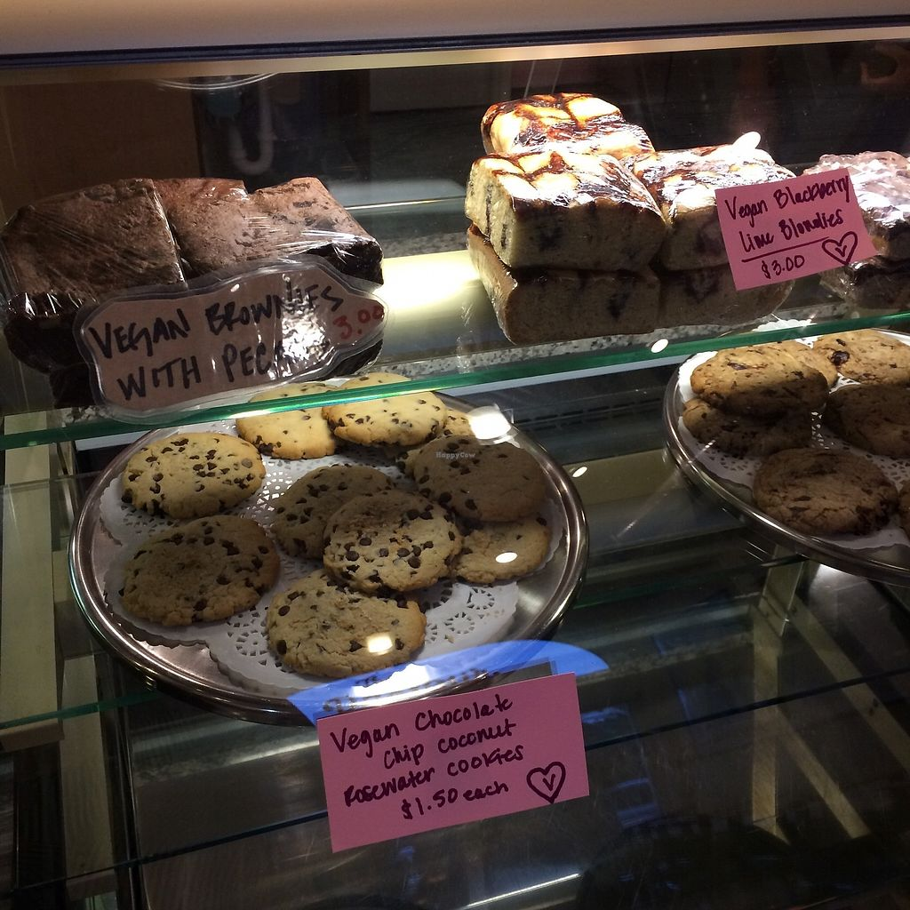 """Photo of The Parlour  by <a href=""""/members/profile/The%20Vegan%20Chemist"""">The Vegan Chemist</a> <br/>Case of vegan and non-vegan treats <br/> August 8, 2017  - <a href='/contact/abuse/image/26983/290287'>Report</a>"""