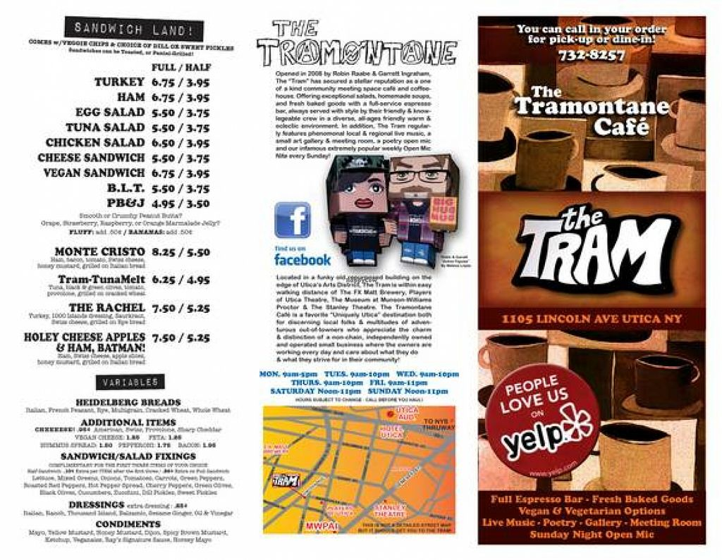 Photo of Tramontane Cafe  by Robin R. <br/>Tramontane Cafe Menu <br/> January 8, 2016  - <a href='/contact/abuse/image/26988/131513'>Report</a>