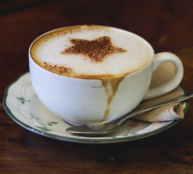 """Photo of The Chocolate Tree  by <a href=""""/members/profile/EmmaFaeEdinburgh"""">EmmaFaeEdinburgh</a> <br/>Cappuccino made with  oat milk <br/> February 18, 2018  - <a href='/contact/abuse/image/27002/360976'>Report</a>"""
