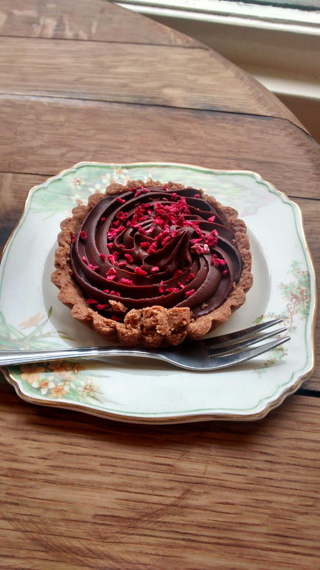 """Photo of The Chocolate Tree  by <a href=""""/members/profile/craigmc"""">craigmc</a> <br/>Vegan chocolate raspberry tart <br/> March 13, 2014  - <a href='/contact/abuse/image/27002/65821'>Report</a>"""