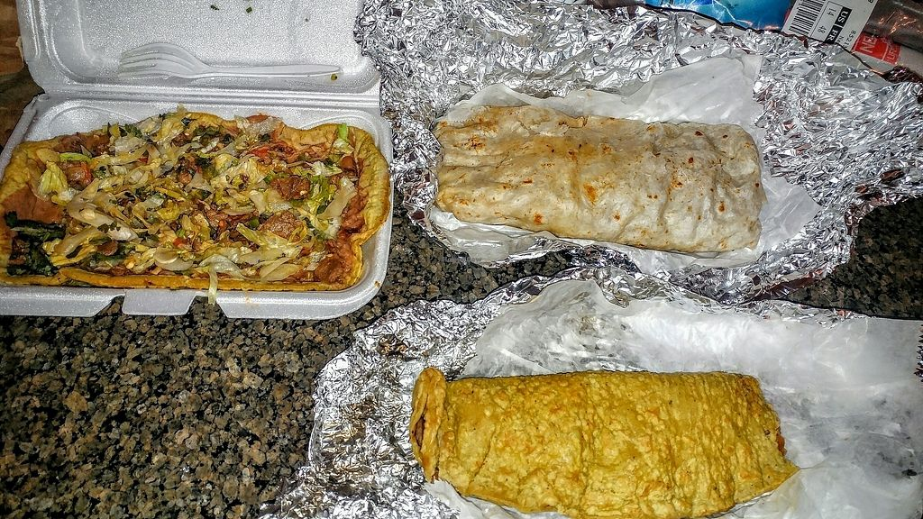 "Photo of Quesadilla La Reina Del Sur  by <a href=""/members/profile/KendraWolfe"">KendraWolfe</a> <br/>quesadilla sandal and burrito <br/> September 29, 2017  - <a href='/contact/abuse/image/27003/309675'>Report</a>"