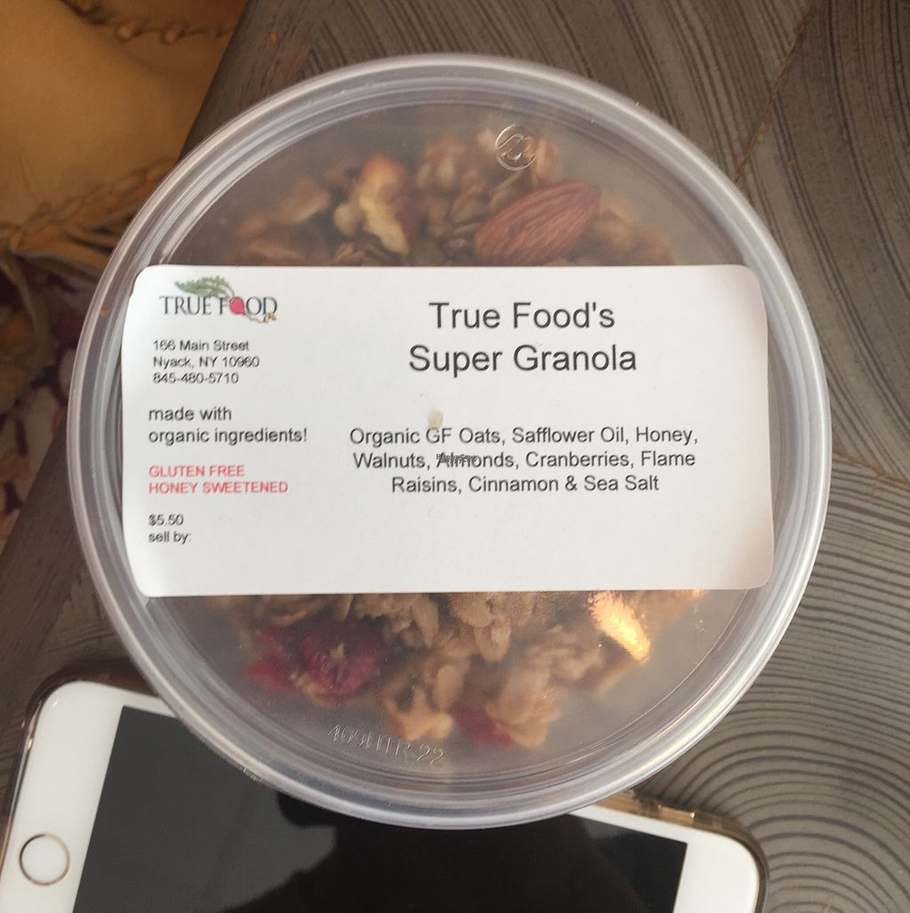 """Photo of True Food  by <a href=""""/members/profile/TheVeganSix"""">TheVeganSix</a> <br/>Granola for sale <br/> September 17, 2016  - <a href='/contact/abuse/image/27006/176390'>Report</a>"""