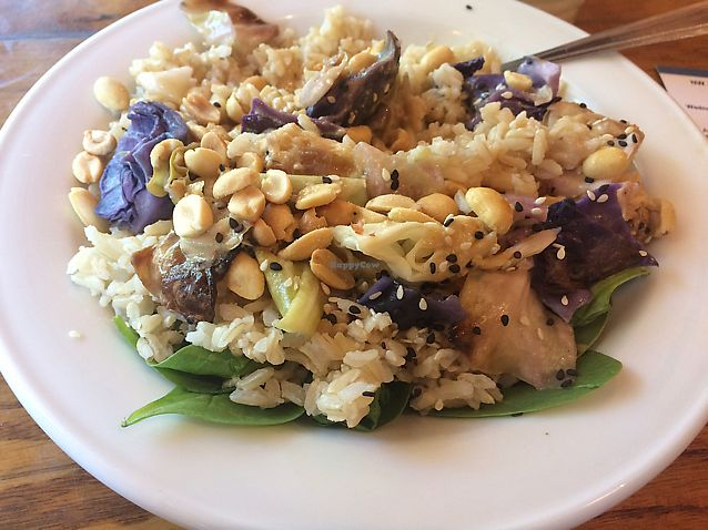 "Photo of Chaco Canyon Organic Cafe - West Seattle  by <a href=""/members/profile/mongoose10"">mongoose10</a> <br/>Peanut Bowl <br/> August 7, 2017  - <a href='/contact/abuse/image/27038/290240'>Report</a>"