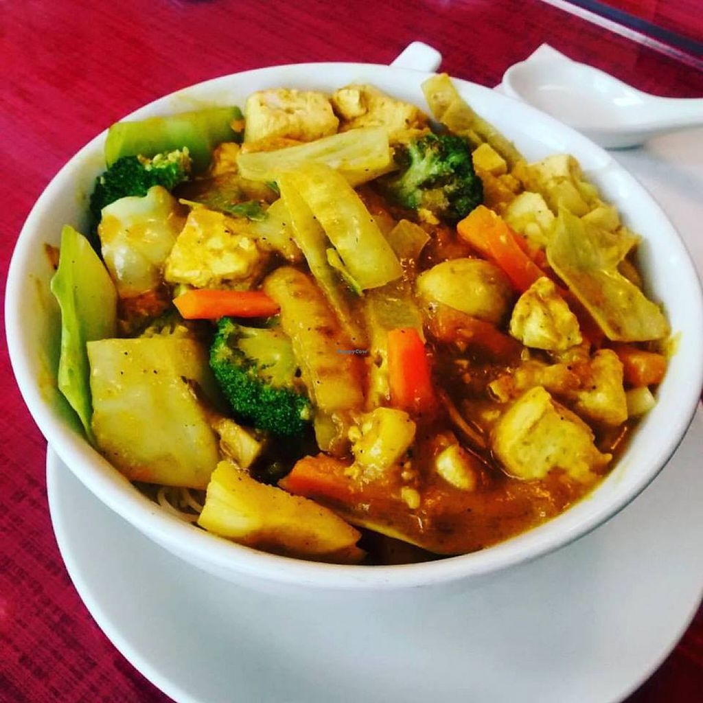 """Photo of Red Satay Grill  by <a href=""""/members/profile/QuothTheRaven"""">QuothTheRaven</a> <br/>Curried tofu <br/> November 30, 2015  - <a href='/contact/abuse/image/27043/126679'>Report</a>"""