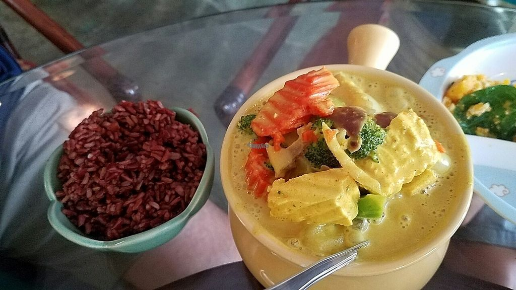 """Photo of Tina's Garden Gourmet Cafe  by <a href=""""/members/profile/RobinPLA"""">RobinPLA</a> <br/>Yellow curry with brown rice <br/> December 22, 2016  - <a href='/contact/abuse/image/27071/204149'>Report</a>"""