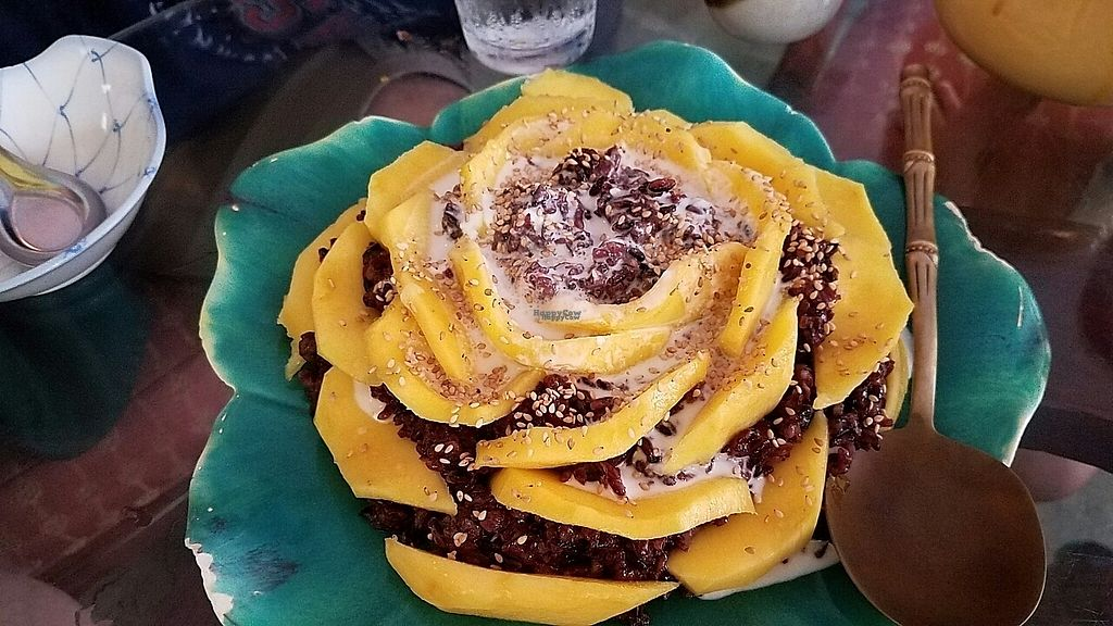 """Photo of Tina's Garden Gourmet Cafe  by <a href=""""/members/profile/RobinPLA"""">RobinPLA</a> <br/>Mango sticky rice dessert <br/> December 22, 2016  - <a href='/contact/abuse/image/27071/204153'>Report</a>"""