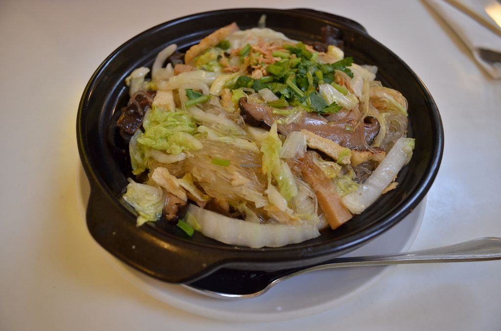 """Photo of Loving Hut - Sunset District  by <a href=""""/members/profile/alexandra_vegan"""">alexandra_vegan</a> <br/>Claypot rice with vermicelli, mushrooms, fungus, cabbage <br/> April 25, 2016  - <a href='/contact/abuse/image/27072/146275'>Report</a>"""