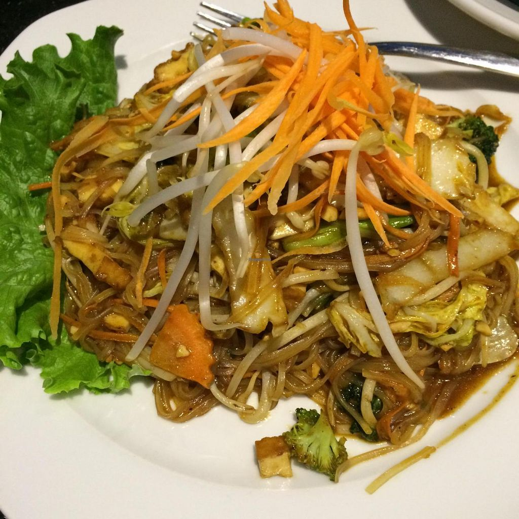 """Photo of De Siam Thai Restaurant  by <a href=""""/members/profile/JazzyCow"""">JazzyCow</a> <br/>Vegetable Pad Thai (ask for no egg!!!) <br/> March 2, 2015  - <a href='/contact/abuse/image/27092/94595'>Report</a>"""