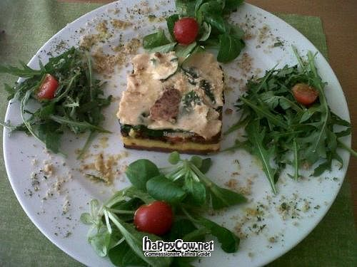 """Photo of Crucina Restaurante  by <a href=""""/members/profile/Vegangirltravels"""">Vegangirltravels</a> <br/>Raw vegan lasagne with cream of mushrooms <br/> May 28, 2012  - <a href='/contact/abuse/image/27102/32480'>Report</a>"""