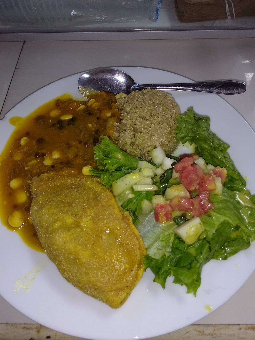 """Photo of Govinda Lila  by <a href=""""/members/profile/emzie1983"""">emzie1983</a> <br/>Set lunch main. Spinach empanada :) <br/> April 13, 2018  - <a href='/contact/abuse/image/2710/385170'>Report</a>"""