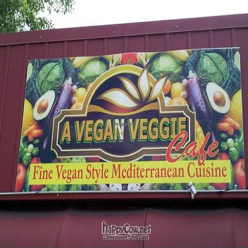 "Photo of CLOSED: A Vegan-Veggie Cafe  by <a href=""/members/profile/happycowgirl"">happycowgirl</a> <br/>sign above entrance <br/> June 20, 2011  - <a href='/contact/abuse/image/27142/9346'>Report</a>"