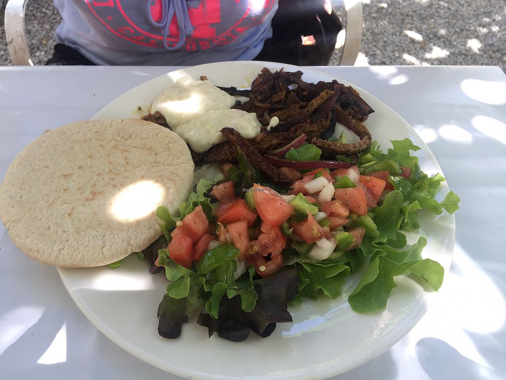 "Photo of Bellaverde  by <a href=""/members/profile/shervinv"">shervinv</a> <br/>Seitan Gyros with Pita (vegan) <br/> August 11, 2017  - <a href='/contact/abuse/image/27185/291537'>Report</a>"
