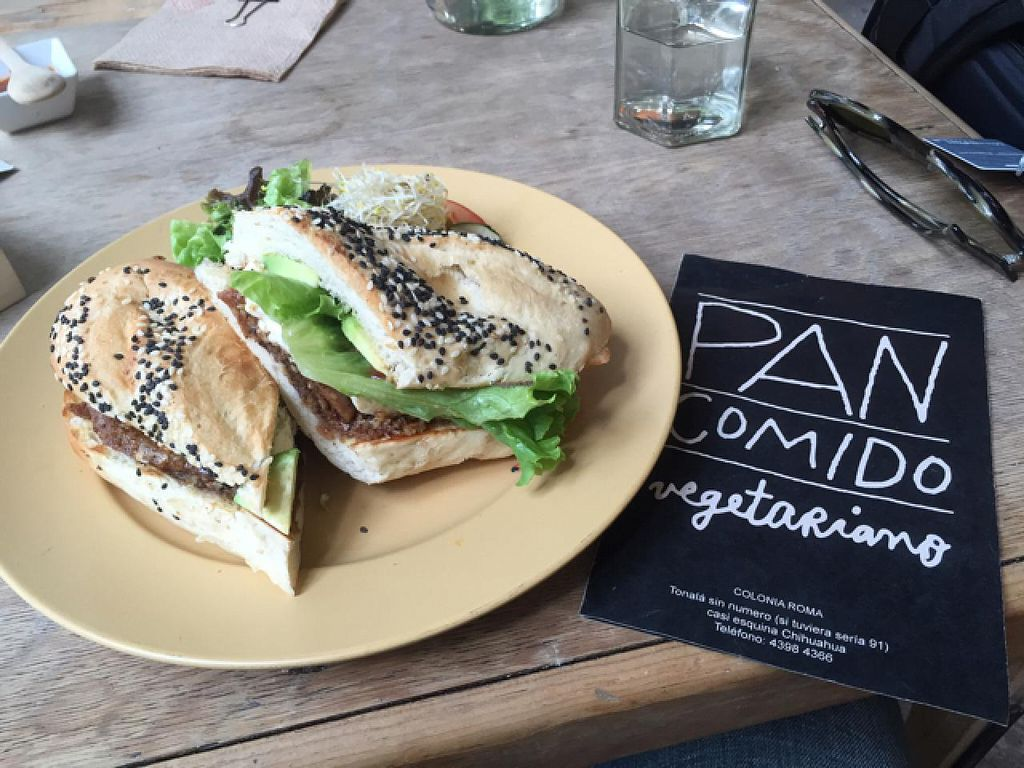"""Photo of Pan Comido Vegetariano - Tonala   by <a href=""""/members/profile/Ajolote"""">Ajolote</a> <br/>the Sabina sandwich <br/> July 22, 2015  - <a href='/contact/abuse/image/27201/110484'>Report</a>"""